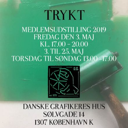 Trykt invitation Danske Grafikere